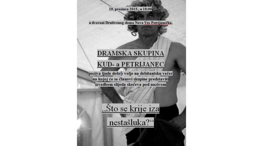 Debitantska večer dramske skupine KUD-a Petrijanec