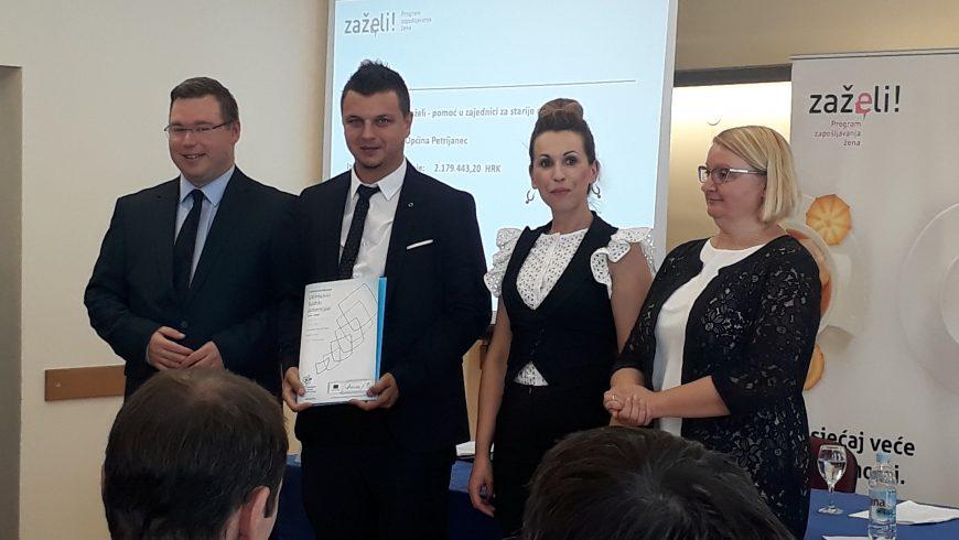 """Općini Petrijanec više od dva milijuna kuna za projekt """"Zaželi"""""""