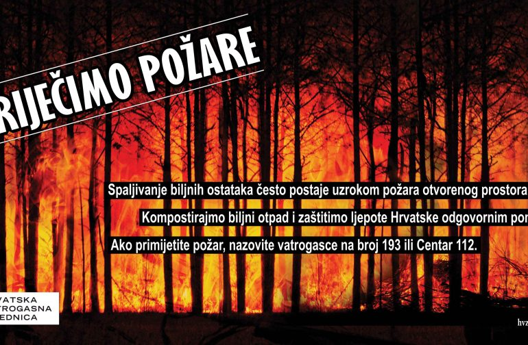 """""""SPRIJEČIMO POŽARE"""" – Oprez pri spaljivanju biljnog otpada"""