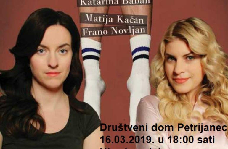 """Predstava """"SVE U 3…"""" Kerekesh Teatara u Petrijancu 16. ožujka u 18:00 sati"""