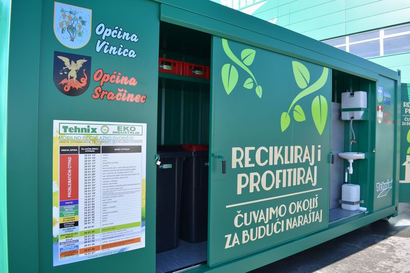 Raspored korištenja mobilnog reciklažnog dvorišta za mještane Općine Petrijanec – kolovoz 2020