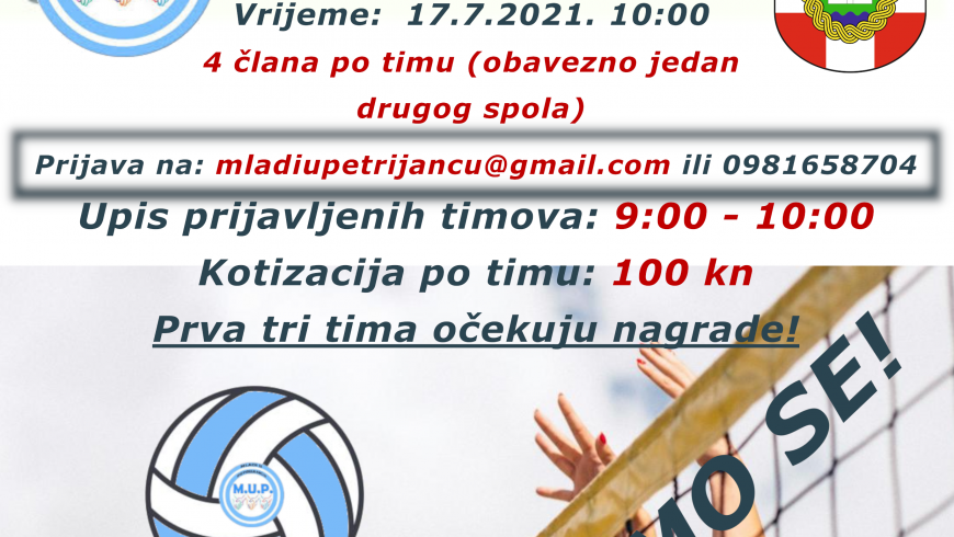 "Turnir u odbojci ""4 na 4"" – 17.7.2021.g."